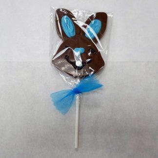 Bunny Head Chocolate Lollipops