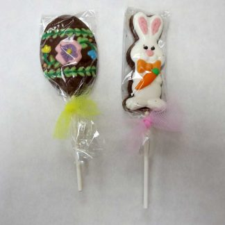 Easter Bunny or Easter Egg Chocolate Lollipop